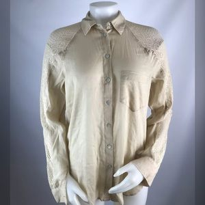 Holding Horses Long Sleeve Mesh Button Down Shirt